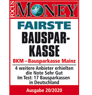 Fairste Bausparkasse BKM - Focus Money Umfrage